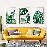 Pianta Wall Art Stampe Botanical Art Poster Palm Banana Monstera Foglia verde Decorazione ...