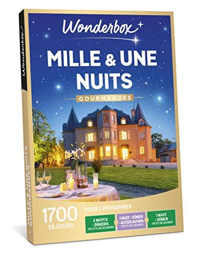 Wonderbox - Coffret cadeau - MILLE & UNE NUITS GOURMANDES – 1700 Week-ends gourmands en hôtels 3* ou 4*, châteaux, manoirs