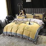 juego de funda de edredón 3d-Inicio Textil Textil Agua Lavado de agua Seda Seda Seda Bordado Lecho de cama Conjunto de cuatro piezas, Usado en Habitación Dormitorio Habitación para niños Apartamento
