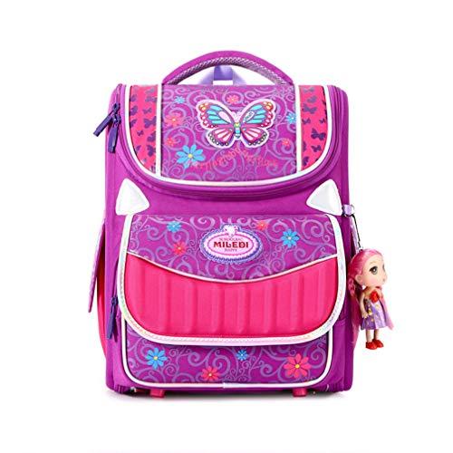 Mochila Escolar para niñas Mochila Tutorial ergonómico para niños Bolsa de Princesa