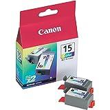 CANON Boite de 2 cartouches jet d encre couleurs pour imprimante I70 ref : BCI15C
