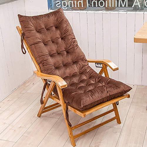 ZWXXQ Lounge Chair Chaise Lounge Cushion Garden Chair Rocking Chair Chair Cushion High Back Armchair Seat Cushion Rattan Chair Bench Chair Cushion Universal Seat cushions-125x48cm Brown