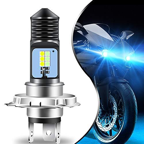 Teguangmei H4 HB2 9003 HS1 P43t LED Ampoule de Phare de Moto Haut/Bas Faisceau Super Brillant 6000K Blanc Bleu Haute Puissance 3030 12SMD pour Phare de Moto de Voiture ATVS (Lot de 1)