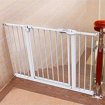 LNDDB Porte de sécurité intérieure Extra Large Porte de bébé avec Porte pour Animal Domestique, Se Fixe à la barrière de Protection d'escalier de Garde-Corps de Rampe 66-194CM (Taille: 135-144cm)