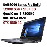 2018 Flagship Dell Inspiron 15 5000 Gaming Edition 5577 Laptop (15.6 Inch FHD Display, Intel Core i5-7300HQ 2.5GHz, 8GB RAM, 128GB SSD + 1TB HDD, NVIDIA GTX 1050 4GB Graphics, Windows 10)