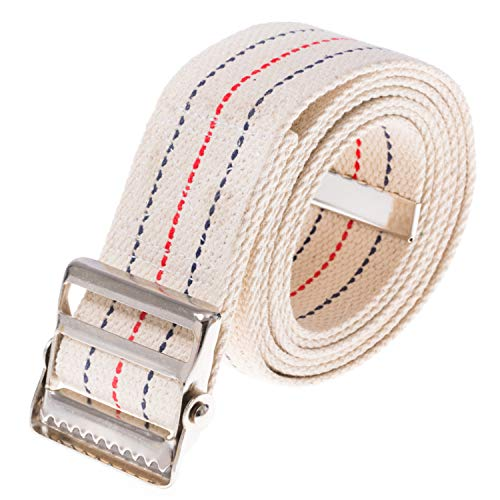 COW&COW Gait Belt 72inch - with Metal Buckle - Transfer Walking and Standing Assist Aid for Caregiver Nurse Therapist 2 inches(Beige)