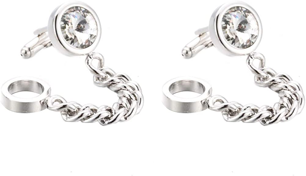 Da.Wa Silver Crystal Chain 2021 autumn and winter new Cuff Men's Super popular specialty store Business Wedding Links Shi
