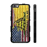 407Case American Gadsden Flag Brick Wall Hyper Shock Rubber Protective TPU Case (Compatible with iPhone 7/8)