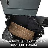 Paketsafe Briefkasten mit flexiblem Paketkasten - platzsparend - schnittsicher - Paketbriefkasten für Pakete bis 70x30x40 - anthrazit - 5
