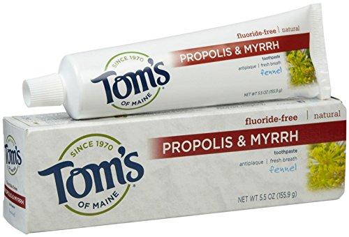 Tom's of Maine Propolis & Myrrhe natürliches fluoridfreie Zahnpasta mit Fenchel 160 ml