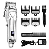Pro Cordless Hair Clippers, Cosyonall Haircut Kit Rechargeable Hair Grooming Trimmers Set With LED Display for Men Stylists Barbers Kids Home Using (All Metal Heavy Duty Motor)