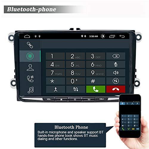 SWTNVIN Autoradio stéréo Android 10.0 pour Volkswagen Skoda Radio 9' Écran Tactile HD Navigation GPS avec Bluetooth WiFi Commande au Volant 2 Go + 32 Go (Mince)
