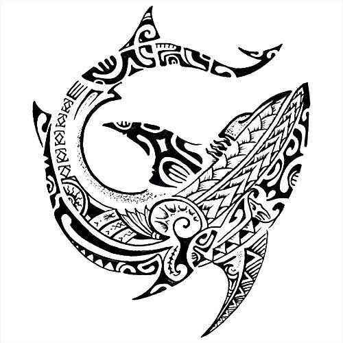 Tatouages éphémères poisson maori divinité de Tatouage Life