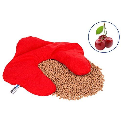 Kirschkernkissen (42x36 cm) aus Baumwolle, 1,4 kg. Das Wärmekissen auch Nackenkissen und Kirschkern Nackenhörnchen für Ofen, Mikrowelle, Heizung und Kachelofen. Geeignet für Wärme und Kältetherapie.