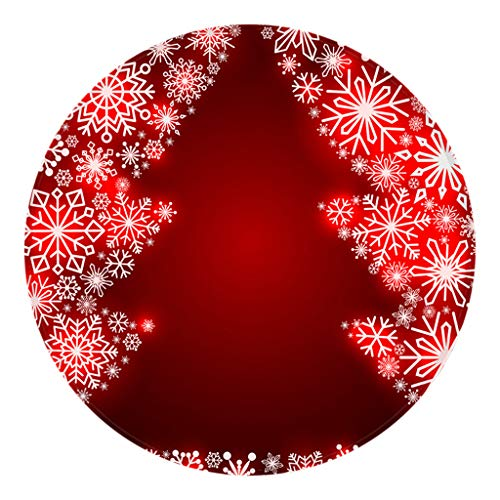 PRETTYEST Weihnachten Deko, Weihnachtsbaum Anhänger Weihnachtskugeln Baumschmuck Weihnachtskunst Weihnachtsteppich Küchentür Bad Boden Teppich Bodenmatte Drucken 60cm