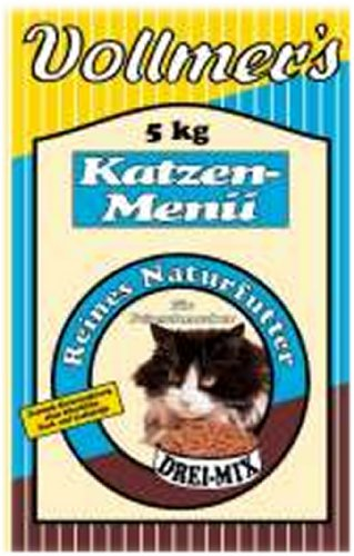 Vollmer's 57031 Katzenfutter Katzen-Menü Drei-Mix 10 kg