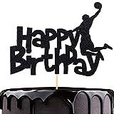NN-BH Black Flash Happy Birthday Cake Topper, Birthday Party Cake Decoration, Sports Theme Cake Topper (Dunk)