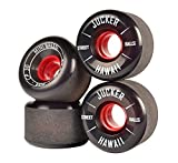 JUCKER HAWAII Ruedas para Longboard / Skateboard / Mini Cruiser Slide Wheels MINI BALLS 60mm 80A Negro