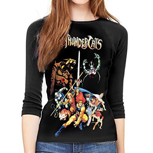 Women's Thundercats Baseball Shirt, Round Collar, S to XXL