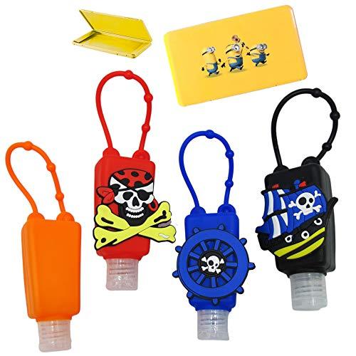 Juego de botellas recargables para niños de plástico con funda de silicona – 30 ml