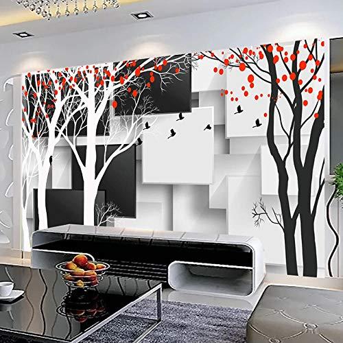 Murales De Pared 3D Papel Tapiz Fotográfico Blanco Y Negro Celosía Creativa...