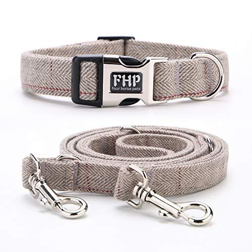 Fourhorse Heavy Duty Dog Collar and Leash (6.6