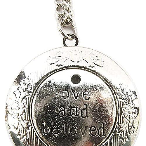 chaosong shop Medallón de plata envejecida con diseño de amor y amado, estilo victoriano, estilo vintage
