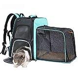 QSCVDEA 22ポンド猫キャリー犬のキャリアペットキャリアのために小中猫犬の子犬、折りたたみ子犬キャリアとA耐久性、ウォッシャブル、