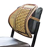 Sarte BS-X2 Mesh Ventilation Wooden Back Rest with Elastic and Belt Support For