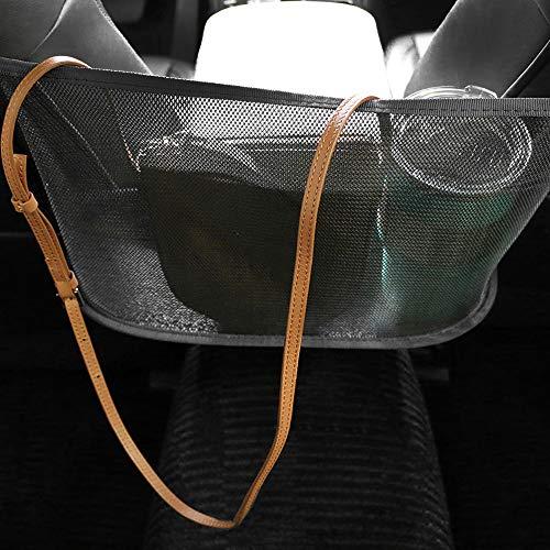 MEISEN Car Net Pocket Handbag Holder Seat Back Organizer Mesh Large Capacity Bag for Purse Storage Phone Documents Pocket, Driver Storage Netting Pouch, Barrier of Back Seat Pet Kids (Black)