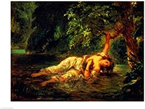 Posterazzi The Death of Ophelia 1844 Poster Print by Eugene Delacroix, (36 x 24)