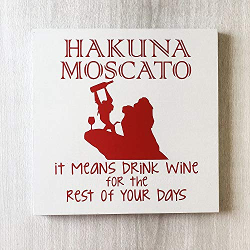 prz0vprz0v Hakuna Moscato Teken Hakuna Matata Teken Hakuna Moscato Grappige Wijn Teken Wijn Drinker Gift Grappige Wijn Gift Wijn Decor Bar Teken