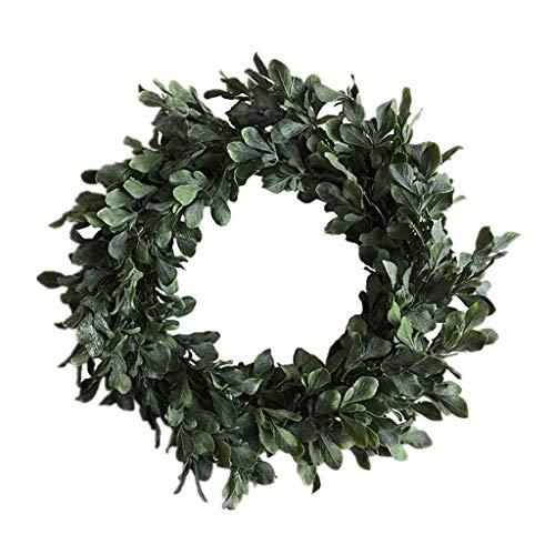 Cgration Künstliche Blumen Weihnachten mit gefrosteten Blättern Kranz Frühlingskranz Outdoor für Haustür Wand Fenster Party Hochzeit Dekor