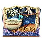 Disney Traditions, Figura de forma de libro con Aladín y Jazmin, para coleccionar, Enesco