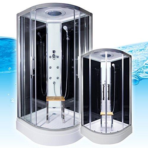 AcquaVapore QUICK18-0300 Dusche Duschtempel Komplette Duschkabine 80x80, EasyClean Versiegelung:OHNE 2K Scheiben Versiegelung