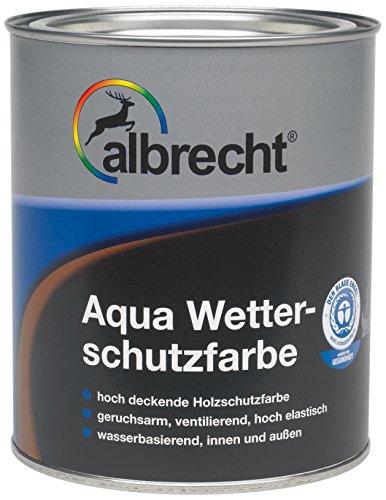 Lackfabrik J. Albrecht GmbH & Co. KG 3400657080040600750 Aqua-Wetterschutzfarbe 0406 moosgrün 750ml, 750 ml