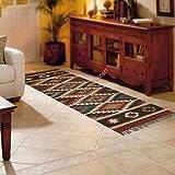 Handicraft Bazarr Alfombra de yute india hecha a mano plana Dhurrie, alfombra de yute de 2,5 x 6 pies, alfombra tejida a mano, alfombra decorativa de gran área de yute, Kilim, alfombra de yute natural