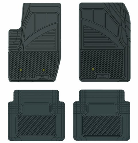 Koolatron Pants Saver Custom Fit 4 Piece All Weather Car Mat for Select Ford Explorer Sport Trac Models (Black)