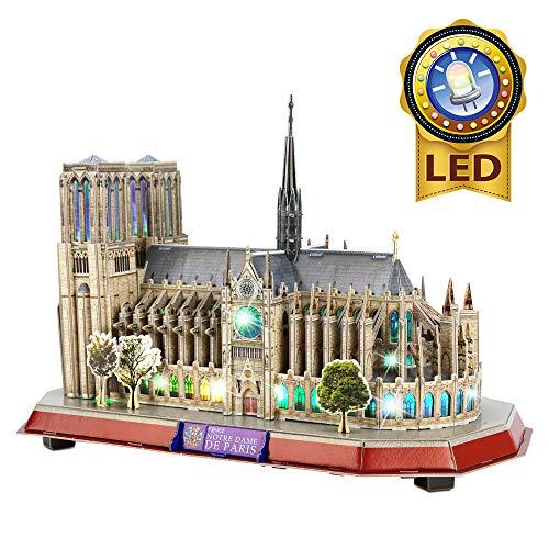CubicFun Puzzle 3D LED Notre Dame de Paris Rompecabezas 3D