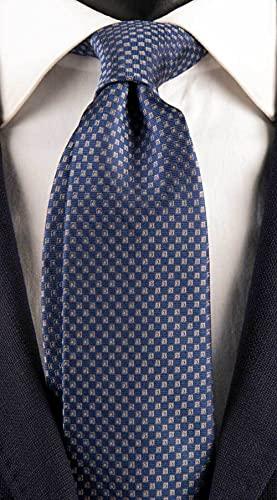 Cravatta Uomo per Cerimonia di Seta Fantasia Bluette Grigia CY3162