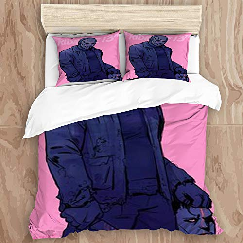 CANCAKA chenwl00 DuvetCover Set,Friday The 13th Horror 3D Print (33) Decorative 3 Piece Bedding Set with 2 Pillow Shams, Queen Size