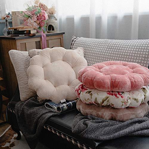 N / A Cojín de Terciopelo sólido Grueso y Redondo cojín de Suelo futón Tatami cojín de Silla cojín de Viaje 40x40x7cm