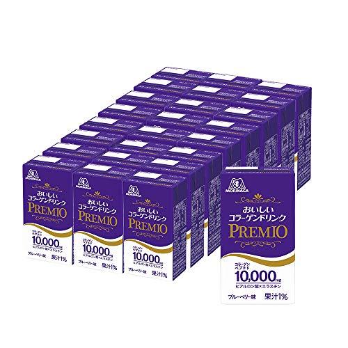 森永製菓 おいしいコラーゲンドリンク プレミオ 125ml×24本 美容 コラーゲン エラスチン ヒアルロン酸 ビタミンC セラミド 脂質ゼロ