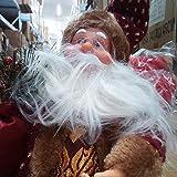 Happyyami Weihnachtsmann-Puppe-Weihnachten Ornament Dekoration Weihnachten Tisch Weihnachtsmann-Figur sitzt (rot) - 2