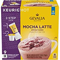 GEVALIA Mocha Latte K-CUP Pods and Froth Packets 9 Count (Pack Of 4) [並行輸入品]