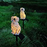 Uniprod LED Garden Lights - Solar Night Lights Dog Shape Solar-Powered Lawn Lamp - Waterproof, Energy Saving (Dog)