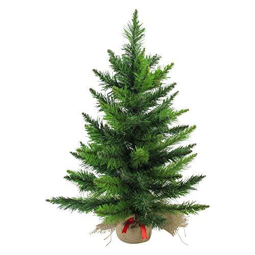 Northlight Mini Pine Artificial Christmas Tree in Burlap Base, Green