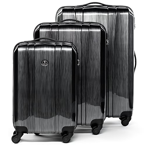 FERGÉ Kofferset Hartschale 3-teilig Dijon Trolley-Set - Handgepäck 55 cm, L und XL 3er...
