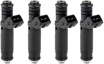 EMIAOTO 4Pcs Fuel Injectors Nozzle FI114961 107961 for Siemens Deka EV1 60LB BMW M3 325i 525i 535i Ford Jeep Cherokee FI114961