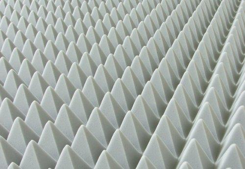 Pyramidenschaum aus BASOTECT® lichtgrau 100x50cm Schalldämmung Isolierung Akustik - verschiedene Stärken (100 x 50 x 4cm)
